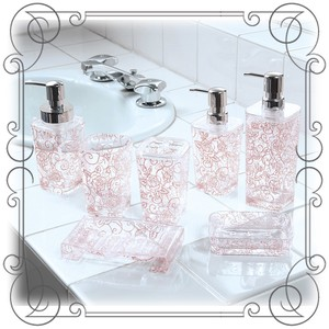 Clear rose Pattern Clear Rose Pink
