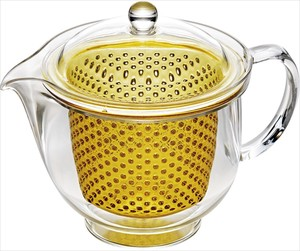 Clear Tea Pot Yellow