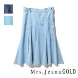 【SALE】フレアースカート Mrs.Jeana GOLD/GM3035