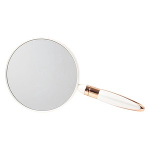 Fan Handy Mirror Hand Mirror Both Sides Magnifying Glass Interior Mirror