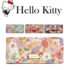 Hello Kitty Japanese Pattern Cover Long Wallet