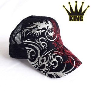 Japanese Pattern Embroidery Tribal Trucker Hat