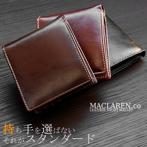 MACLAREN.CO Leather Short Wallet Coin Purse