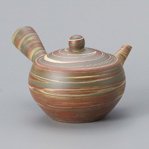 Japanese Tea Pot TOKONAME Ware Round shape Paste Included Japanese Tea Pot