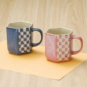 1Pc Checkered Hexagon Mug