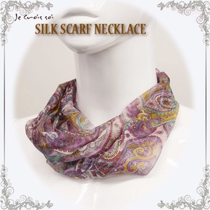 Silk Scarf Necklace Series Stole Silk Neck Stole