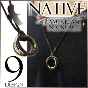 Native American Motif Necklace Men's Unisex Ring A/W
