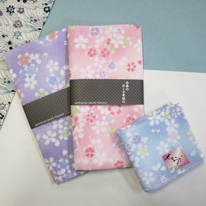 Japanese Pattern Gauze Hand Towel Handkerchief Sakura Double Gauze Disposal