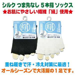 Silk Toe Five Finger Socks 2 Colors