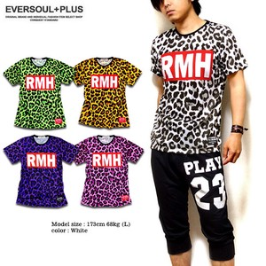 Colorful Leopard Box Matching Repeating Pattern Print T-shirt