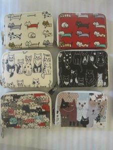 Cat Repeating Pattern Series Coins Wallet Card Holder New Pattern