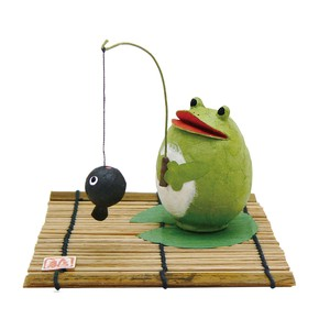 Chigiri Japanese Paper Fishing Frog Ornament