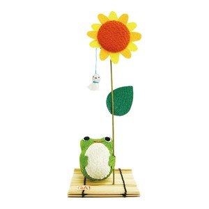 Sunny Sunflower Frog Ornament