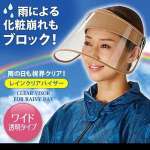 Out of stock Rain Clear Visor Beige