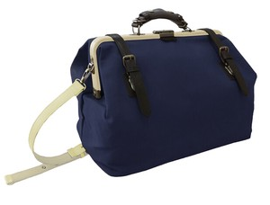 Navy Canvas Dulles Bag One touch Open By Type