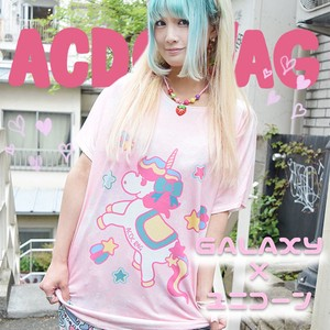 Unicorn T-shirt Pastel Color Fairy tale Pink Character Space