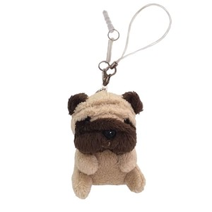 Mobile Phone Cleaner / Sitting Pug / earphone jack plug accessory