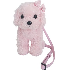 Adorable poodle shaped mini purse / Mini Pochette Pink Poodle