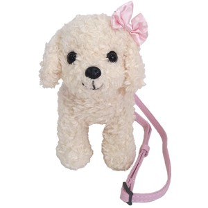 Adorable poodle shaped mini shoulder bag purse / Mini Pochette Premium White Poodle