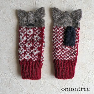 Knitted Mitten Cat Glove Wool