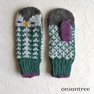 Knitted Mitten Owl Glove Wool Animal