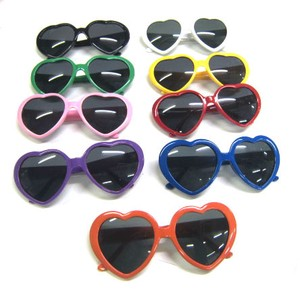 Vacation Plastic Frame Heart Sunglass