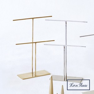 Brass Brass Accessory Display Stand Double