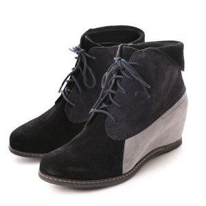 Genuine Leather Outlet Goat Suede Lace Heel Boots