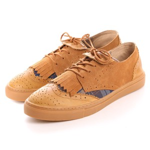 Genuine Leather Outlet Cow Leather Material Combi Lace Casual Shoe