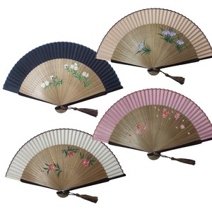 Hand-Painted Silk Folding Fan