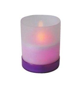 LED Candle Purple Ring