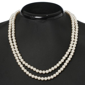 Pearl Double Necklace Double