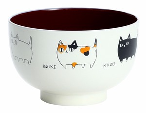 Neko Sankyodai Soup Bowl 1Pc