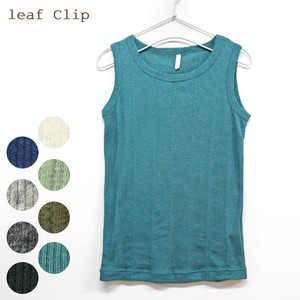 S/S Needle Punching Tank Top Natural Cotton Stretch