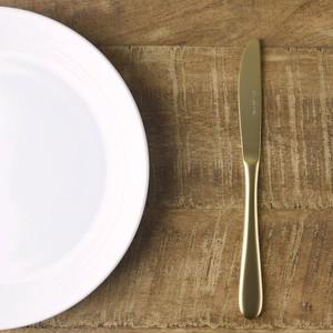レトロエレガンテ マットゴールド デザートナイフ[日本製/燕三条/洋食器]