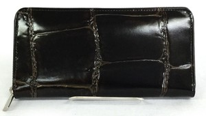 Leather Wallet Genuine Leather Long Wallet Round Fastener Belts Cow Leather
