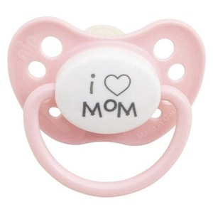 PACIFIER I LOVE MOM PK L(5mths+) オシャブリ