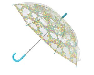 HAPPY CLEAR UMBRELLA KIDS RAINBOW