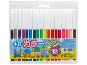 Color pen 18 Colors Aqueous
