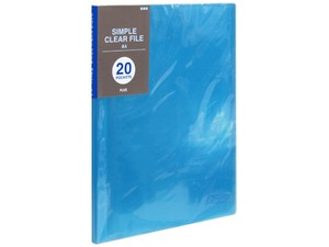 Plastic Folder Pocket Blue