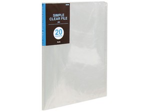 Plastic Folder Pocket Clear