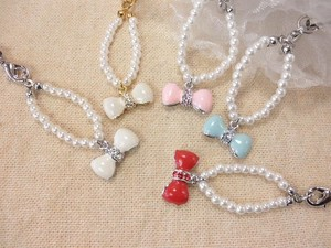Mobile Charm Pearl Belt Lovely Ribbon
