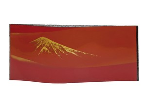 Fuji Panel Echizen Lacquerware Wooden Gold Leaf