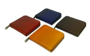 Genuine Leather Clamshell Wallet