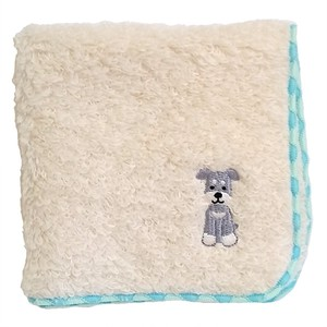Towel handkerchief with a puppy embroidery!   /  Schnauzer