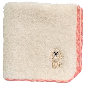 Towel handkerchief with a puppy embroidery!   /  Cocker Spaniel!