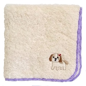 Towel handkerchief with a puppy embroidery!   /  Shih Tzu