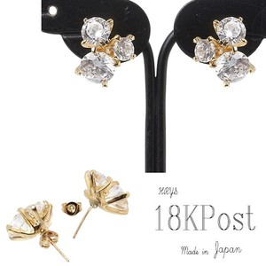 Design Big Zirconia Pierced Earring