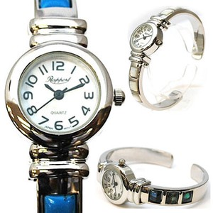 Stone Metal Bangle Watch Ladies Wrist Watch