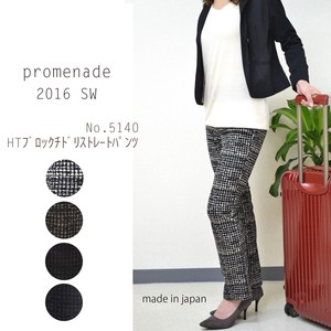 A/W Gigging Block Houndstooth Pattern Line Straight Pants